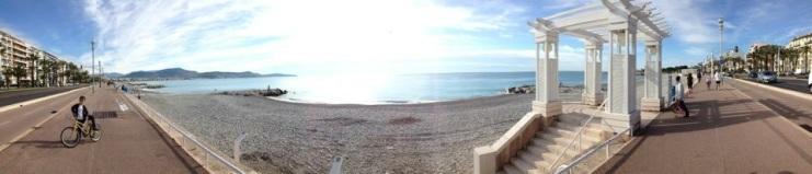 Nice Plage Promenade des Anglais panoramique