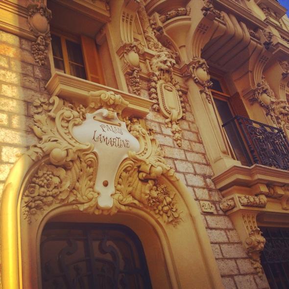 Nice Rue Hancy Façade Immeuble Palais Lamartine